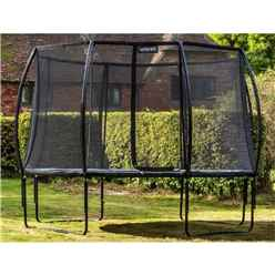 INSTALLED 7ft x 10ft Oval Vortex Trampoline with Enclosure Package + FREE Ladder