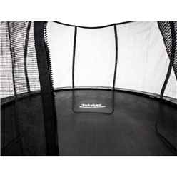 INSTALLED 10ft x 15ft Oval Vortex Trampoline with Enclosure Package + FREE Ladder
