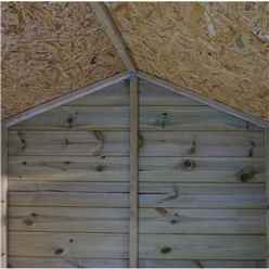 INSTALLED 6 x 4 (1.8m x 1.3m) Pressure Treated Tongue and Groove Reverse Apex Shed - INCLUDES INSTALLATION