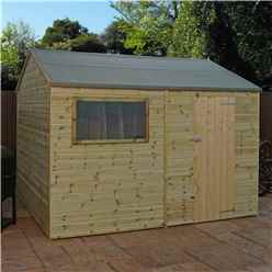 INSTALLED 12 x 8 (3.6m x 2.5m) Pressure Treated Tongue and Groove Reverse Apex Shed - INCLUDES INSTALLATION