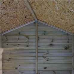 INSTALLED 8 x 6 (2.78m x 2.36m) Pressure Treated Tongue and Groove Reverse Apex Shed - INCLUDES INSTALLATION
