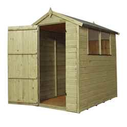 6 x 4 (1.70m x 1.30m) Pressure Treated Tongue and Groove Apex Shed