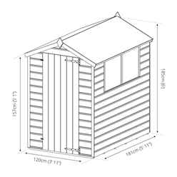 INSTALLED 6 x 4 (1.70m x 1.30m) Pressure Treated Tongue and Groove Apex Shed - INCLUDES INSTALLATION