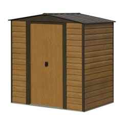 INSTALLED 6ft x 5ft Woodvale Metal Shed (1940mm x 1510mm) INCLUDES FLOOR AND INSTALLATION