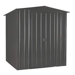 6ft x 4ft Premier EasyFix – Apex – Metal Shed - Anthracite Grey (1.84m x 1.23m)