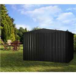 10ft x 7ft Premier Anthracite Grey Metal Shed (2.95m x 2.06m)