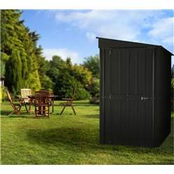 4ft x 8ft Premier EasyFix - Lean To Pent - Metal Shed - Anthracite Grey (1.24m x 2.42m)