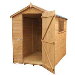 INSTALLED 7ft x 5ft (2.13m x 1.53m) Premier Tongue & Groove Apex Shed Single Door + 1 Window (12mm T&G Floor) - INCLUDES INSTALLATION