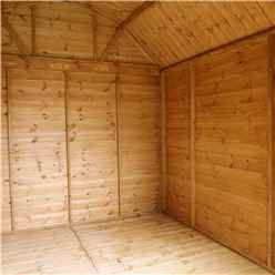 10ft x 8ft (3.1m x 2.4m) Deluxe Tongue & Groove Dutch Barn With Double Doors + 2 Windows (12mm T&G Floor & Roof)