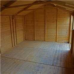 10ft x 20ft (3.2m x 6.1m) Premium Reverse Apex Workshop With Double Doors and 3 Opening Windows (12mm Tongue and Groove Floor and Roof)