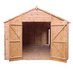 INSTALLED 20ft x 10ft (6.0m x 3.1m) Deluxe Tongue & Groove Workshop With Double Doors, Extra Side Door + 5 Windows (12mm T&G Floor & Roof) - INCLUDES INSTALLATION