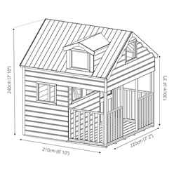 Dorma Playhouse - Double Storey - 7ft x 7ft