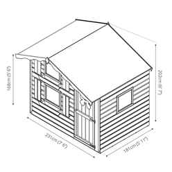 INSTALLED Snowdrop Cottage Playhouse - Double Storey - 7ft x 5ft - INCLUDES INSTALLATION