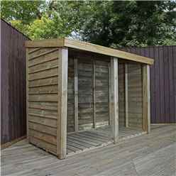 INSTALLED 3 x 6 (1m x 1.9m) Pressure Treated Overlap Double Storage Unit (3'3 x 6'2) INCLUDES INSTALLATION