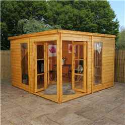 INSTALLED 10ft x 10ft (3m x 3.12m) Poolhouse Summerhouse (12mm T&G Floor & Roof) INCLUDES INSTALLATION