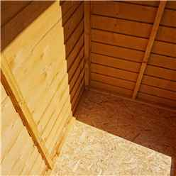 3ft x 4ft (0.85m x 1.3m) Windowless Super Saver Overlap Apex Shed With Single Door (10mm Solid OSB Floor)