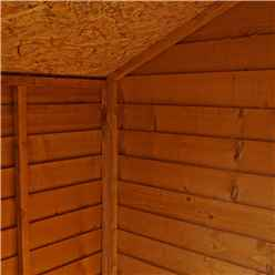INSTALLED 3ft x 4ft (0.85m x 1.3m) Windowless Super Saver Overlap Apex Shed With Single Door (10mm Solid OSB Floor) - INCLUDES INSTALLATION