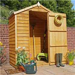 INSTALLED 3ft x 5ft (0.85m x 1.59m) Windowless Super Saver Overlap Apex Shed With Single Door (10mm Solid OSB Floor) - INCLUDES INSTALLATION