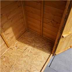 INSTALLED 3ft x 4ft (0.85m x 1.3m) Tongue and Groove Windowless Wooden Apex Shed With Single Door (10mm Solid OSB Floor) INCLUDES INSTALLATION