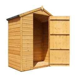 INSTALLED 3ft x 5ft (0.85m x 1.59m) Wooden Windowless Tongue and Groove Apex Shed With Single Door (10mm Solid OSB Floor) INCLUDES INSTALLATION