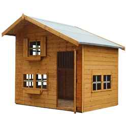 INSTALLED Bramble Cottage Playhouse - Double Storey - 8ft x 6ft - INCLUDES INSTALLATION