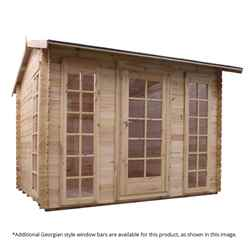3m x 2.5m Vicky Log Cabin (Single Glazing) + Free Floor & Felt & Safety Glass (19mm Tongue and Groove Logs)