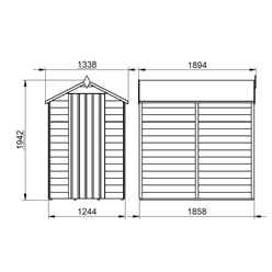INSTALLED 6ft x 4ft (1.8m x 1.3m) Overlap Apex Wooden Garden Shed With Single Door and 1 Window