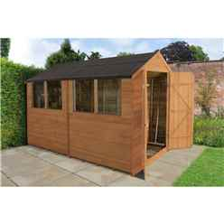 INSTALLED 10ft x 6ft Overlap Apex Shed With 4 Windows (3.2m x 1.9m) - INCLUDES INSTALLATION