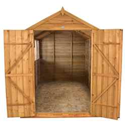 INSTALLED 10ft x 8ft Double Door Overlap Apex Wooden Garden Shed + 4 Windows (3.1m x 2.6m) - INCLUDES INSTALLATION