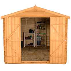 12ft x 8ft Double Door Overlap Apex Wooden Garden Shed + 6 Windows (3.7m x 2.6m)