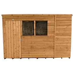 INSTALLED 10ft x 6ft Dip Treated Overlap Pent Shed (3.1m x 1.9m) - INCLUDES INSTALLATION