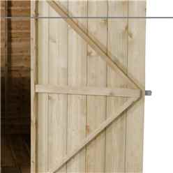 6ft x 4ft (1.8m x 1.3m) Pressure Treated Windowless Overlap Apex Shed with Single Door