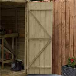 7ft x 7ft (2.2m x 2.1m) Pressure Treated Overlap Apex Wooden Garden Shed With Double Doors and 2 Windows