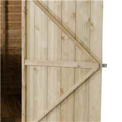 8ft x 6ft Pressure Treated Overlap Apex Wooden Garden Shed with Single Door (2.4m x 1.9m)