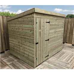 8FT x 5FT Windowless Pressure Treated Tongue & Groove Pent Shed + Single Door