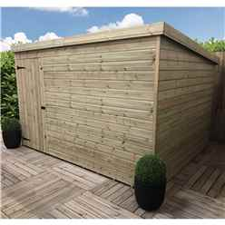 10FT x 6FT Windowless Pressure Treated Tongue & Groove Pent Shed + Single Door