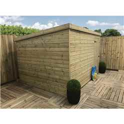 10FT x 8FT Windowless Pressure Treated Tongue & Groove Pent Shed + Single Door