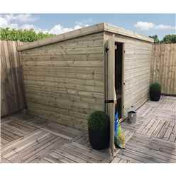 9FT x 6FT Windowless Pressure Treated Tongue & Groove Pent Shed + Single Door