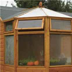 INSTALLED - 10ft x 10ft Deluxe Corner Potting Tongue & Groove Shed (T&G Floor & Roof) - INCLUDES INSTALLATION