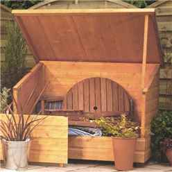 INSTALLED Deluxe Rowlinson Tongue & Groove Garden Chest 4'6