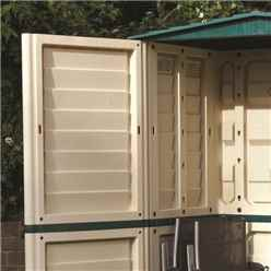 INSTALLED 5ft x 3ft Rowlinson Plastic Tall Shed (1510mm x 830mm) INSTALLATION INCLUDED