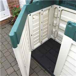 INSTALLED 5ft x 3ft  Rowlinson Plastic Garden Store (1440mm x 830mm) INCLUDING INSTALLATION