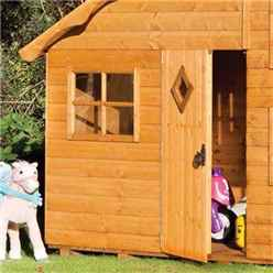 INSTALLED Playaway Rowlinson Swiss Cottage Playhouse 8ft x 7ft (2.50m x 2.06m) INCLUDES INSTALLATION