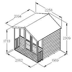 7ft x 7ft Willow Summerhouse