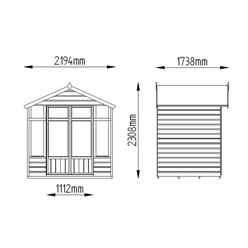 INSTALLED ft x 5ft Carnation Summerhouse - INSTALLATION INCLUDED