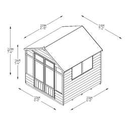7ft x 7ft Oakley Pressure Treated Overlap Summerhouse (219cm x 207cm)