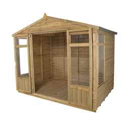 8ft x 6ft Oakley Pressure Treated Overlap Summerhouse (258cm x 193cm)