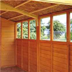 INSTALLED 20ft x 10ft (6.05m x 2.99m) - Dip Treated Overlap - Apex Wooden Garden Shed - 12 Windows - Double Doors - 10mm Solid OSB Floor -INCLUDES INSTALLATION