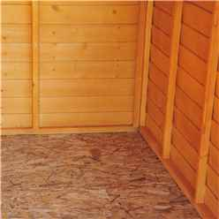 10ft x 6ft  (2.99m x 1.79m) - Dip Treated Overlap - Apex Garden Shed - 6 Windows - Double Doors - 10mm Solid OSB Floor
