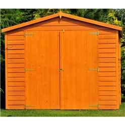 15ft x 10ft  (4.52m x 2.99m) - Dip Treated Overlap - Apex Wooden Garden Shed - 9 Windows - Double Doors - 10mm Solid OSB Floor